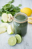 Green juice with fruit and vegetables