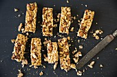Energy bars with nuts and maple syrup