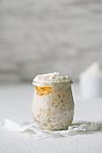 Overnight porridge with honey