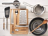 Kitchen utensils required for making vegetable fritters