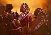 Masai women at ceremony,Tanzania