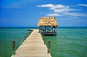 Jetty and hammocks,Resort,