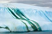 Striated iceberg,Antarctica