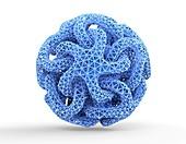 Sphere of linked stars,artwork