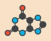 Xanthine purine base molecule