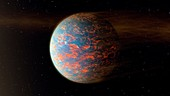 55 Cancri e exoplanet,illustration