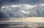 Storm over a beach,Zanzibar