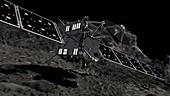 Rosetta spacecraft approaching comet