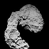 Final descent of Rosetta cometary probe