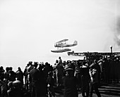 Navy fighter airplane launch,1930s