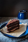 A slice of Brooklyn Blackout Cake