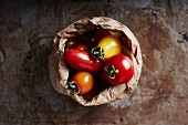 Tomatoes in a paper bag