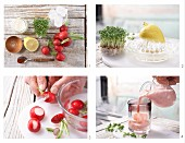 How to make a radish smoothie with cress
