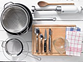 Kitchen utensils required for preparing the recipe