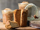 Dutch spice bread baked in a glass