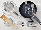 Kitchen utensils for making buttermilk wholegrain pancakes