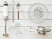 Cooking utensils for the preparation of yoghurt ice cream with berries