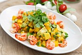 Mango and crabmeat salad with avocado and coriander