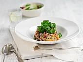Risotto with portobello mushrooms and butternut squash