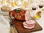 Baked ham for Christmas