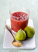 Fig chutney with hawthorn berries