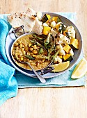 Warming Winter Dahl With Roasted Veg