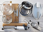 Kitchen utensils for making Salzburger Nockerln (sweet souffle)