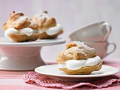 Profiteroles with quark and lemon cream