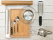 Kitchen utensils for baking sweet cookies