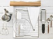 Kitchen utensils for making coconut macaroons
