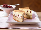 Quark cake with cranberries