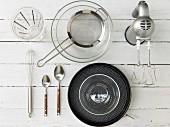 Kitchen utensils for baking a quark cake