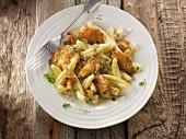 Casarecce mit Semmelstoppelpilzen, Kräutern und Parmesan