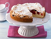 A cherry meringue cake made with buttermilk
