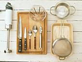 Kitchen utensils for the preparation of sorbet
