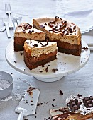 Chocolate cheesecake with chestnuts