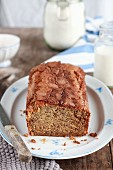 Banana bread with cinnamon