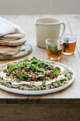 Spiced Mince and Eggplant with Yogurt Dressing