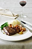 Porterhouse Steak with Caramelised Eschalots
