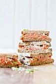 Salmon tartare sandwiches