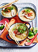Chicken and Lemongrass Soup with Noodles
