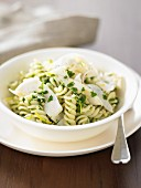 Pasta and Chicken Salad with Herb and Lemon Sauce