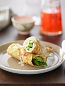 French Turkey and Asparagus Crepes