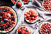 Various berry tarts