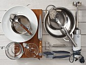Kitchen utensils for vitello tonnato