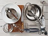 Kitchen utensils for vitello tonnato