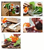 How to make a beetroot sandwich with nasturtium and horseradish