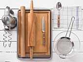 Kitchen utensils for making traybakes