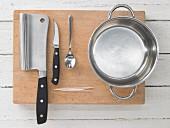 Kitchen utensils for preparing rice paper rolls