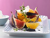 A fig and orange salad with Manchego